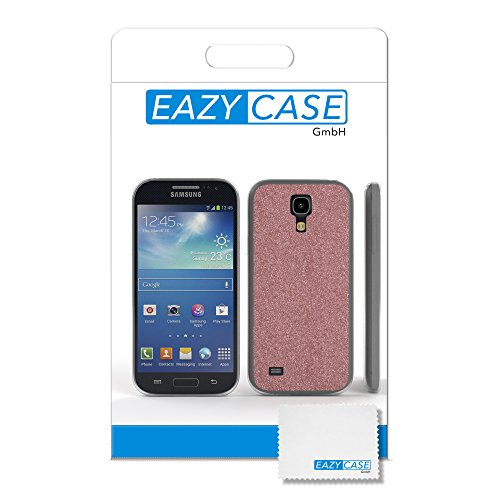 Samsung Galaxy S4 Mini Hülle - EAZY CASE Handyhülle - Ultra Slim Glitzer Schutzhülle aus Silikon in Pink Glitzer Rosé