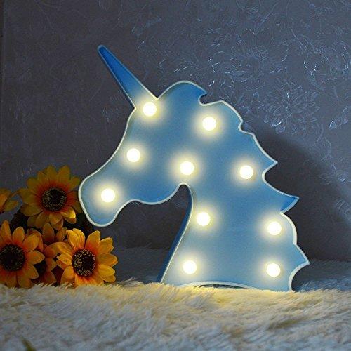 Missley Coloré Licorne Lumière Nuit Lumières À Batterie Décoratif LED Lampe Décoration Murale pour Salon Chambre Maison De Noël Enfants Jouets