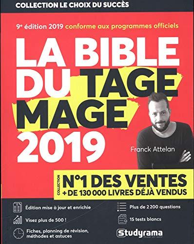 La Bible du TAGE MAGE - 9e édition 2019 - Visez plus de 500 - Fiches - 15 Tests blancs - Plus de 2200 questions + Vidéos par Franck Attelan