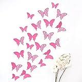 Wandkings 3D Deko Schmetterlinge - Wähle eine Farbe - Pink