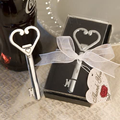 Fashioncraft 50) Heart Accented Key Bottle Opener Favor (Set of 50) Fashioncraft – Wedding Party Favors by d26b37