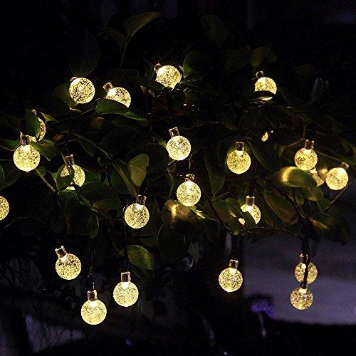 InnooTech 30er LED Solar Lichterkette Garten Globe Außen Warmweiß 6 Meter, Solar Beleuchtung Kugel für Party, Weihnachten, Outdoor, Fest Deko usw. - 3
