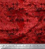 Soimoi Orange Batiste de Coton en Tissu Feuilles & Texture Tissu Imprime par Metre 56 Pouce Large
