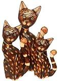 Deko-Katzen MING aus Holz im 3er-Set, Dekoration