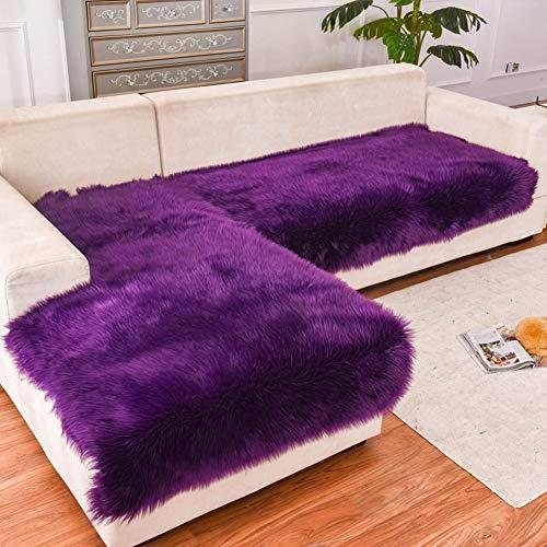 Multi-sofa Schonbezug (Lange Plüsch Sofa Schonbezug Winter Dicke Europa Sofa Protector Rutschfeste Multi-Size Pet Dog Möbel Protector - verkauft durch Stück (Farbe : D, größe : 70x210cm))