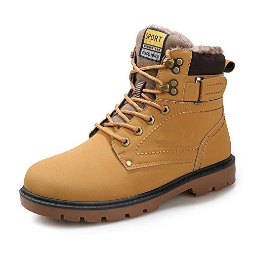 Schnees Stiefel Snow turnschuhe Herren Damen Schuhe Outdoor Winter Ankle Fur Gefüttert Warm Waterproof Booties Anti-Slip gelb EU 40 (Schnee Stiefel Turnschuhe)