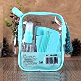 CONNECTWIDE® Cosmetic Organizer Convenient Travel Bag 8 PCS/Set Empty Bottle Suit Empty Plastic Bottle Clam-Shell Travel Bottle Series Easy To Take Cosmetics.