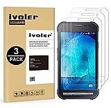 iVoler Kompatibel für Panzerglas Schutzfolie Samsung Galaxy Xcover 3, 9H Härte, Anti- Kratzer, Bläschenfrei, [2.5D Runde Kante], [3 Stücke]