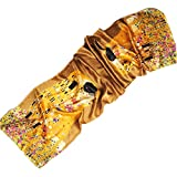 Prettystern P823-170cm Handrolliert 100% Schwere Satin Seide Schal Jugendstil - Gustav Klimt - Kuss (2015)