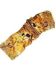 Prettystern - LUXUS 170cm Klimt Jugendstil Malerei handrolliert lang schwere Satin Seidenschal - Gustav Klimt - 6 Muster