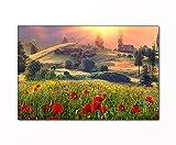 PB ART - Landschaftsbild als Kunstdruck auf Leinwand und Holzkeilrahmen - Beste Qualität, handgefertigt in Deutschland! (40x60cm)