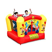 Happy Hop Kids Clown Bouncer Bouncy Castle 60 Second Inflate Everything in 1 Box