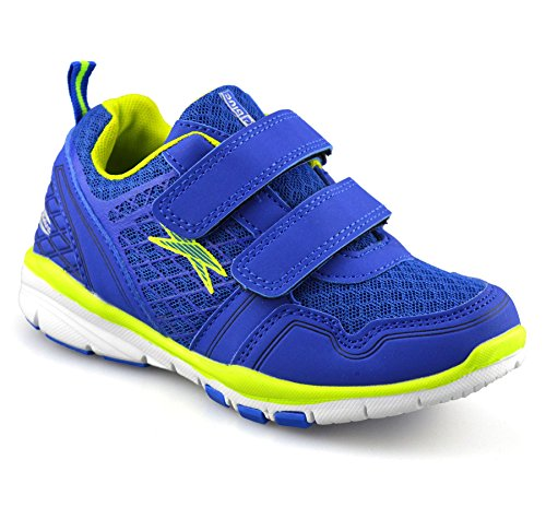Boys Girls Childrens Casual Touch Strap Summer Sports Running Trainers Shoe Size[UK 12 Kids,Blue]