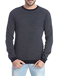 Jack & Jones Men's Cotton  Sweater (5712834660620_Blue_Large)