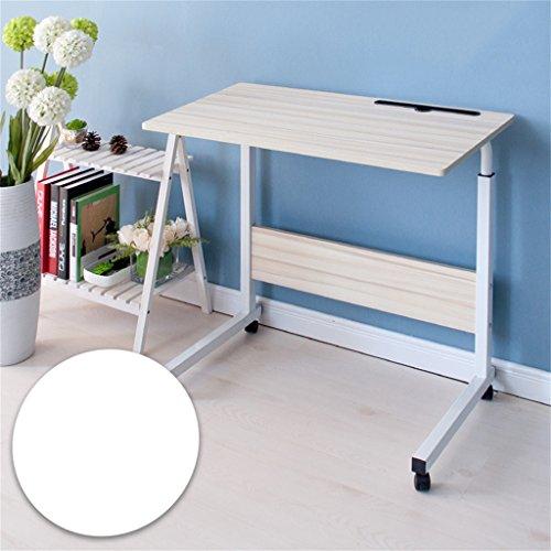 Computer-Schreibtisch kann es einfach bewegen Aufzug Laptop-Tisch Bett Schreibtisch Landnutzung Mobile faul Tisch Nachttisch Computertisch (Farbe : A, größe : 80 * 40cm)