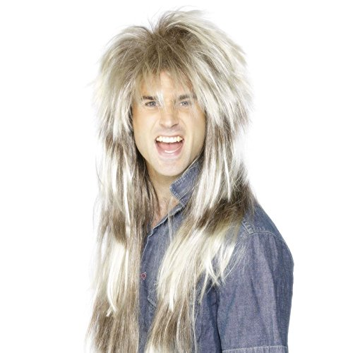 Mens Long Rocker 80s Metal Wig