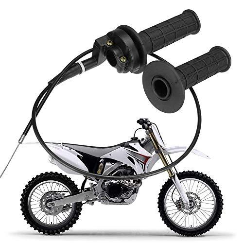Ggaggaa Motorrad Gashebel 7/8 Universal 110-250CC mit Gasleitung zur Beschleunigung des Handgriffs (Motorrad-gashebel)