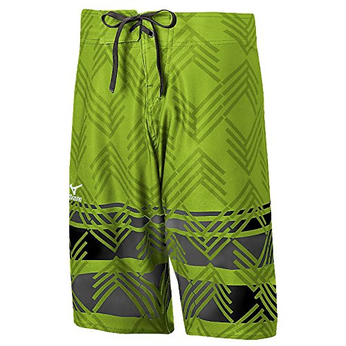 Mizuno Mens Board Shorts Lime/Black