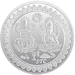 Be You 99.6% Pure Silver Lakshmi Ganesh 5 Gram Coin