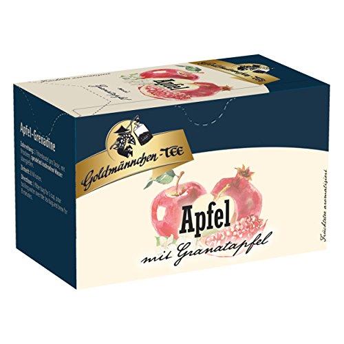 Apfel-granatapfel (Goldmännchen Tee Apfel-Granatapfel, Früchtetee, 20 einzeln versiegelte Teebeutel)