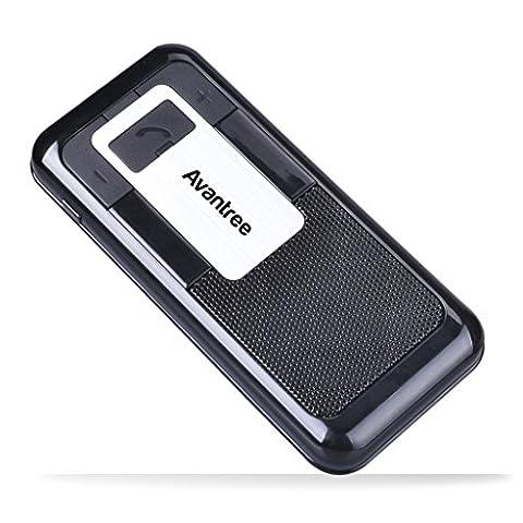 Avantree Multipoint Bluetooth Sonnenblenden Auto Kit, Unterstützt GPS, Musik, In