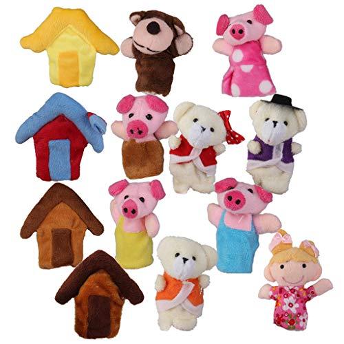 Pädagogisches Toy Story Kinder Familie Fingerpuppen Goldlöckchen Bär Schwein ()
