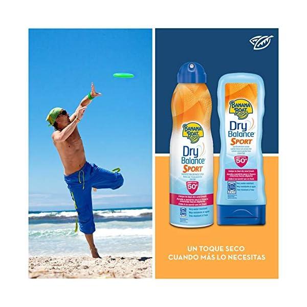 Banana Boat Dry Balance Sport SPF50 – Crema solar hidratante para deportistas en loción solar 180ml.