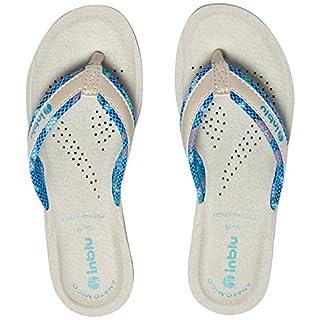 INBLU Women's Stile Flip Flops, Turquoise (Azzurro 008), 5 UK