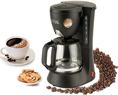 SToK® ST-DCM01 - 600 Watt Drip Coffee Maker - 6 Cups (600ml) - (Drip Coffee Machine)