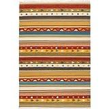 Rayas alfombra Kilim sitap SK 24 lana multicolor, diseño italiano por sitap, tejido a mano, tamaños disponibles en cm: 60 x 90, 60 x 200, 70 x 140, 1, Multicolor, 60 x 90