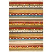 Tappeto Stripes Kilim Sitap SK 24lana multicolore, design italiano by