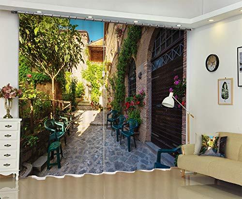 IndividualityCurtain (Anpassbare Größe) 3D Digital Stereo Persönlichkeit Kinder Wohnzimmer Schlafzimmer Balkon Erker Druck Blackout Vorhänge,220cm breit x 180cm hoch (86