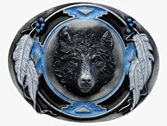 SW Wolf Head Belt Buckle including Presentation Box