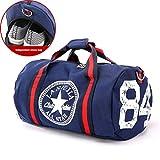 Canvas Damen Reisetasche Yoga Gym Bag Men Sport Pack Einheitsgröße blau
