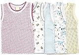 5-tlg.Set Unterhemd für Mädchen und Junge Bunt Größe 80-116 (80, Set für Junge)