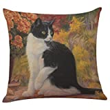 Fodera per cuscino federa per gatti e Gatto carino,YanHoo PillowCase,Cuscini decorativi,Cuscini decorativi e accessori,Copricuscini decorativi da letto,Cuscini (B)