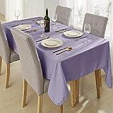 Deconovo Tischdecke Wasserabweisend Tischwäsche Lotuseffekt Tischtücher 130x280 cm Lila