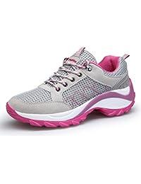 KOUDYEN Atlético Zapatos Chicas Mesh Zapatillas de Deporte Fitness Plataforma para Mujer
