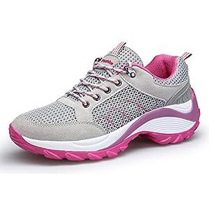 KOUDYEN Damen Turnschuhe Laufschuhe Fitnessschuhe Freizeit Atmungsaktive Mesh Sportschuhe
