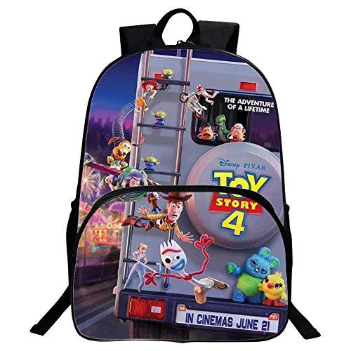 4ead67ec9a23 YHJ backpack Niños 3D Mochila Escolar Toy Story 4 Cartoon Anime Impreso  Bookbags 16inches G-16 Inch