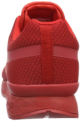 KangaROOS Unisex-Erwachsene Coil R1-Woven Low-Top Rot (flame red 670)