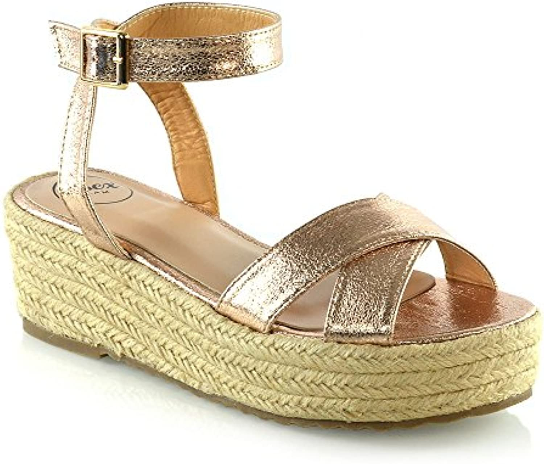 17114b53059 ESSEX GLAM Womens GLAM Cross ESSEX Strap 3-8 Platform Wedge Heel Sandals  Ladies Espadrilles Shoes Size 3-8 B07CYQLFQ6 Parent 7531aea. Search. Menu