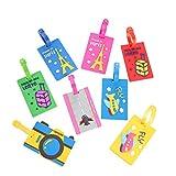 Da.Wa 5 Unids PVC Creativo Etiquetas de Equipaje de Plástico Suave Crucero de Dibujos Animados Titulares de Etiquetas de Equipaje Viajes Etiquetas
