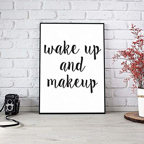 yiyiyaya Aufwachen Und Bilden Leinwand Kunst Poster Whiteboard Wandaufkleber Bilder Für Wohnzimmer Dekoration Kein Rahmen 56 * 52 cm