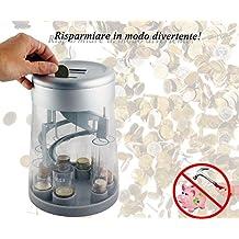 Hucha electrónica , Separador eléctronico digital de monedas , Cuenta monedas , con display digital y selector de monedas mws1305