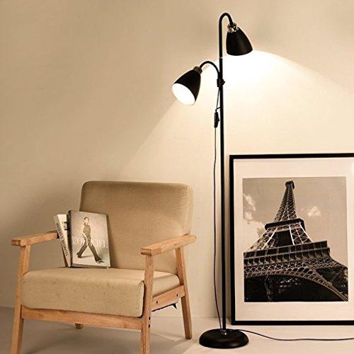 5W LED Eyeshield Stehleuchte Vater und Kind Dual Zweck Lampe Verstellbare Richtung Vertikale Schreibtisch Lampe Wohnzimmer Schlafzimmer Stehleuchte ( Farbe : Weißes Licht ) (Deco-schreibtisch-lampe)