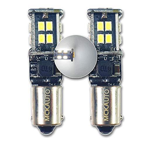 MCK Auto - Sostituzione per LED CanBus H21W BAY9s Set di lampadine bianche molto chiare e senza errori compatibili con F30 F31 LCI