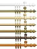 way2way Gardinenstange CLASSIC | weiss 240cm | Vorhangstange | Ø 28mm | viele Farben & Größen