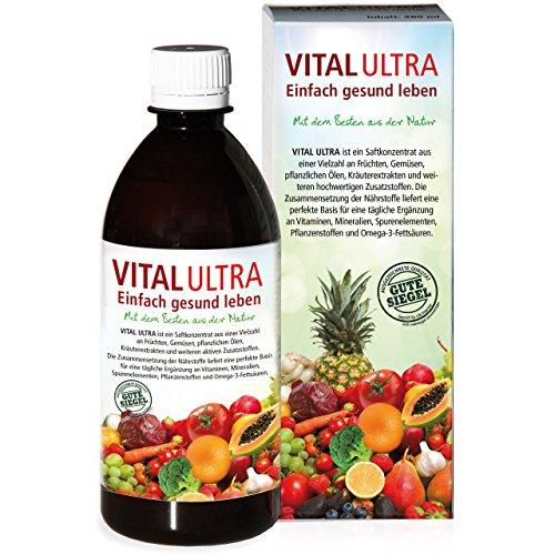 Vital Ultra, 480 ml – tägliche Ergänzung an Vitaminen, Mineralien, Spurenelementen, Pflanzenstoffen und Omega-3-Fettsäuren (Ultra Omega 3)