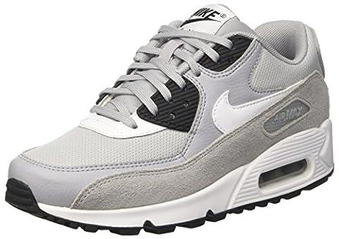 Nike Wmns Air Max 90, Chaussures de Gymnastique Femme, Gris (Wolf Grey/White/Black/White), 37.5 EU